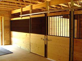 Custom Horse Barn in North Georgia